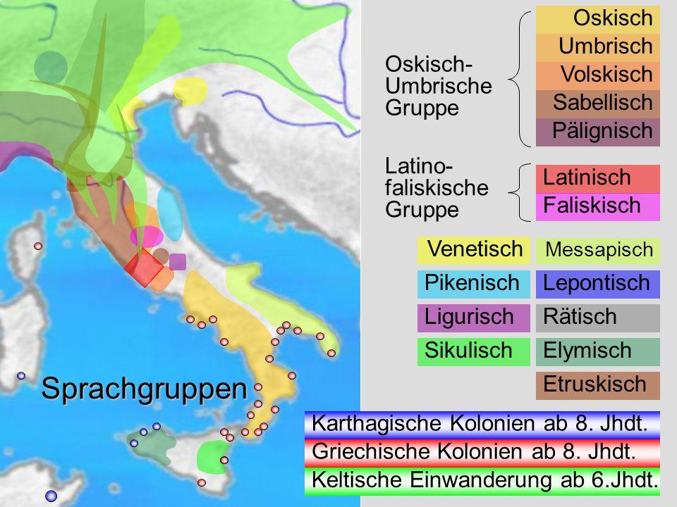 Sprachgruppen Sprachgruppen Oskisch Oskisch- Umbrische Gruppe Umbrisch