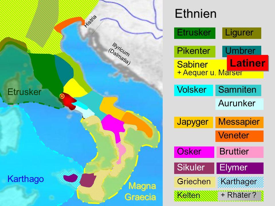 Ethnien Ethnien Latiner Etrusker Ligurer Pikenter Umbrer
