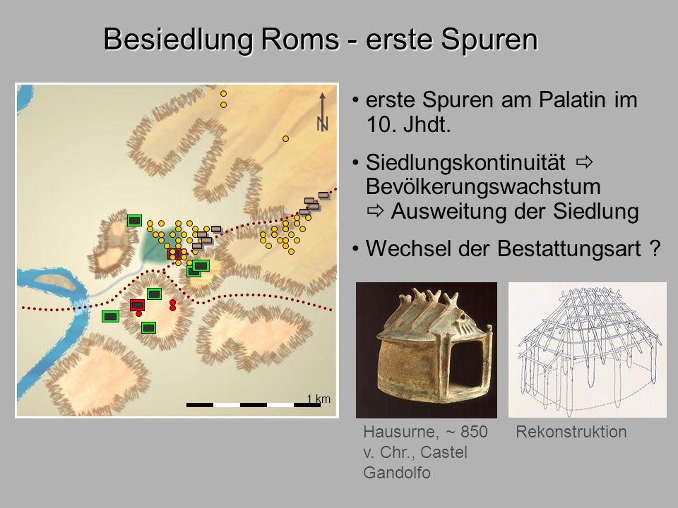Besiedl.Rom2 Besiedlung Roms - erste Spuren Urnen 10. Jhdt. v. Chr.