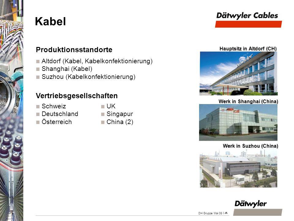 Kabel Produktionsstandorte Vertriebsgesellschaften