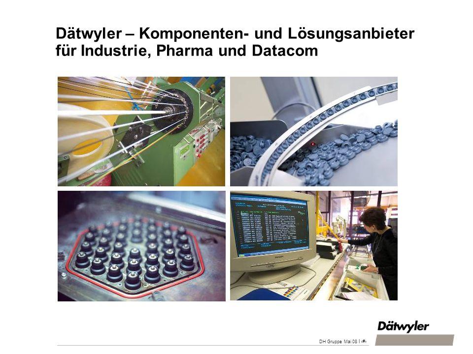 DH Gruppe April 200828.03.2017. Dätwyler – Komponenten- und Lösungsanbieter für Industrie, Pharma und Datacom.