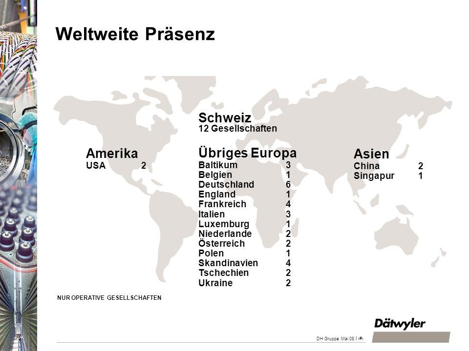 Weltweite Präsenz Schweiz 12 Gesellschaften Amerika USA 2