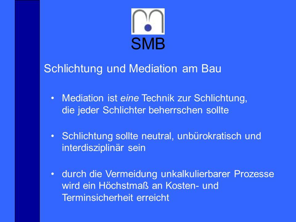 SMB Schlichtung und Mediation am Bau