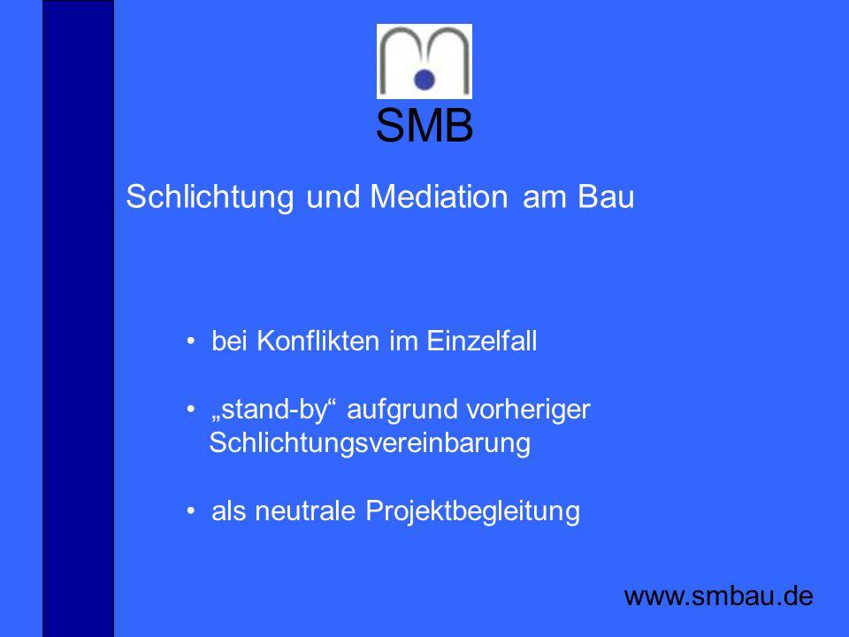 SMB Schlichtung und Mediation am Bau bei Konflikten im Einzelfall