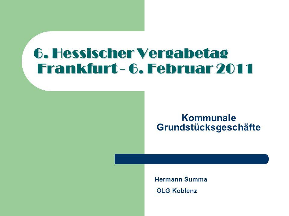 6. Hessischer Vergabetag Frankfurt - 6. Februar 2011