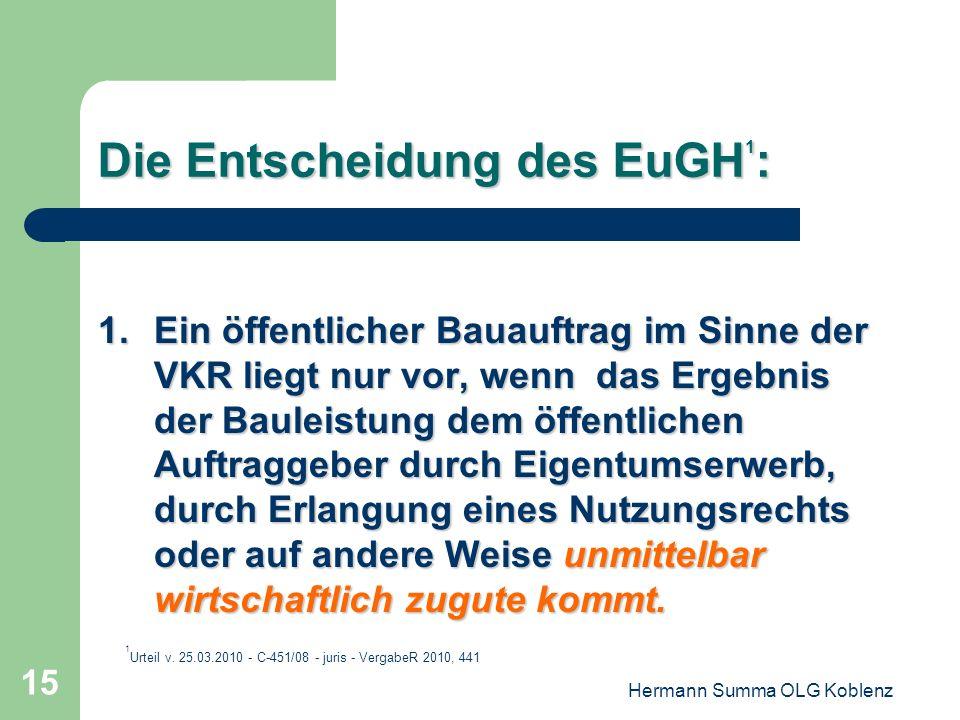 Die Entscheidung des EuGH1: