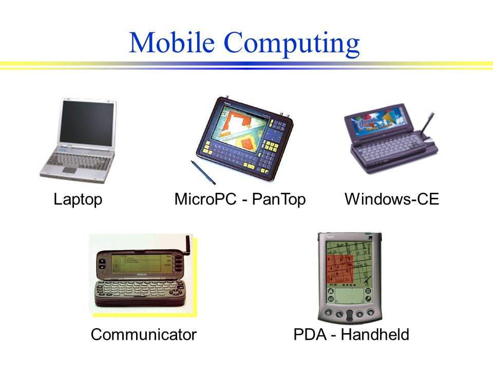 Mobile Computing MicroPC - PanTop Laptop Windows-CE Communicator