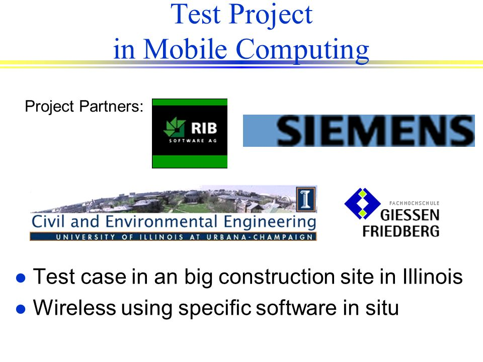 Test Project in Mobile Computing