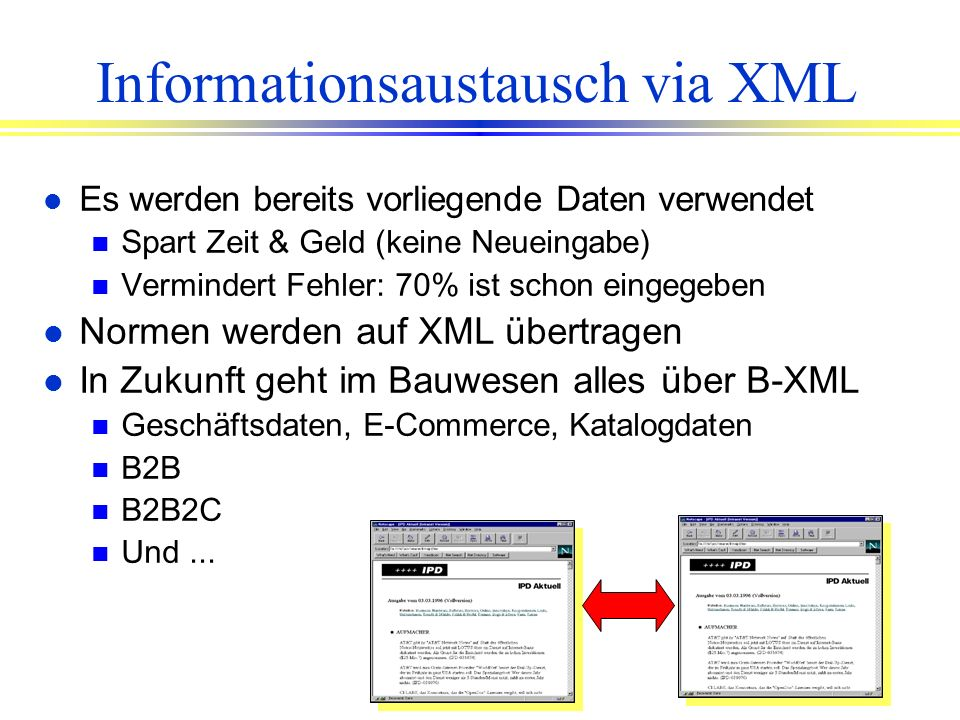 Informationsaustausch via XML