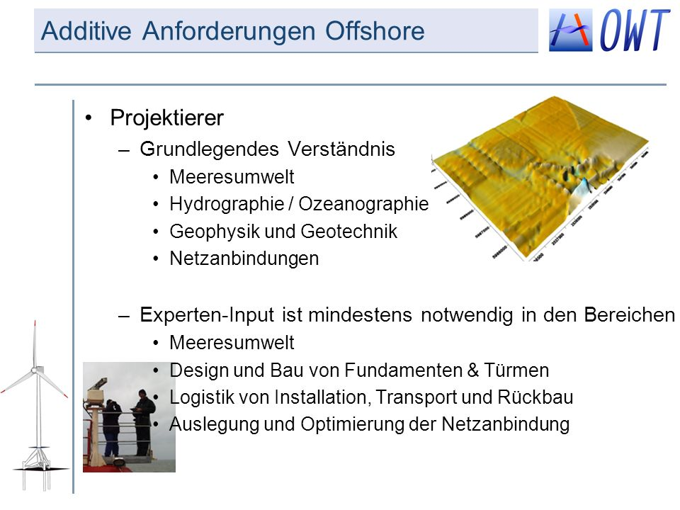 Additive Anforderungen Offshore