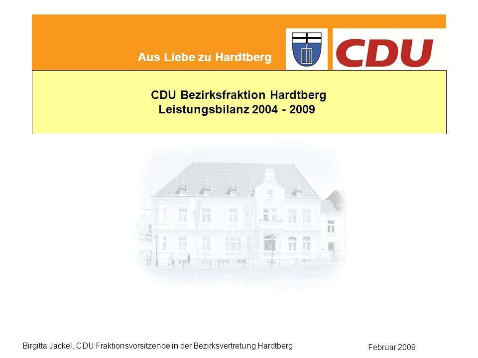 CDU Bezirksfraktion Hardtberg Leistungsbilanz der CDU Hardtberg