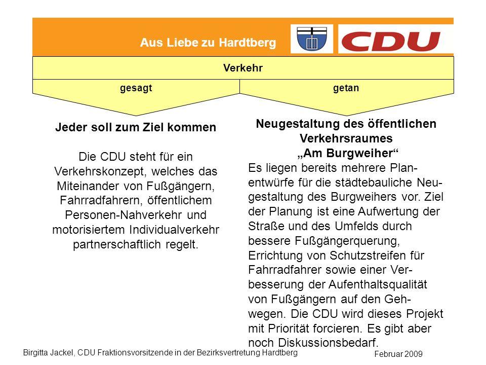 """Neugestaltung des öffentlichen Verkehrsraumes """"Am Burgweiher"""