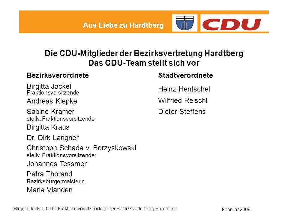 Die CDU-Mitglieder der Bezirksvertretung Hardtberg