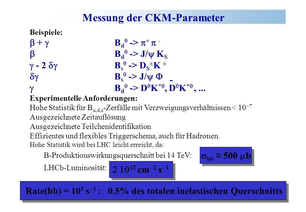 Messung der CKM-Parameter