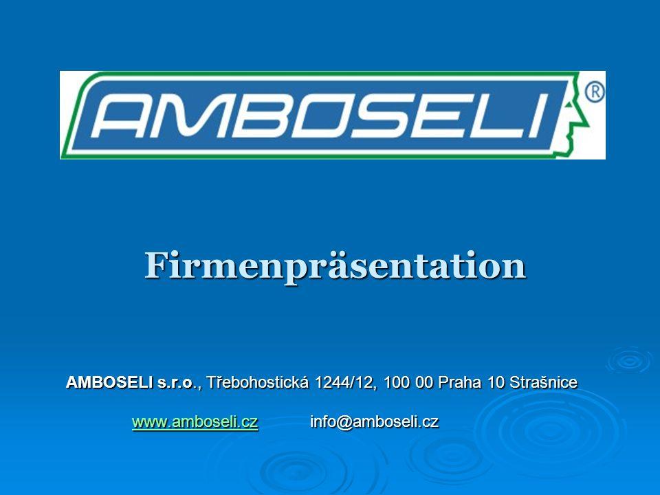 Firmenpräsentation AMBOSELI s.r.o., Třebohostická 1244/12, 100 00 Praha 10 Strašnice.