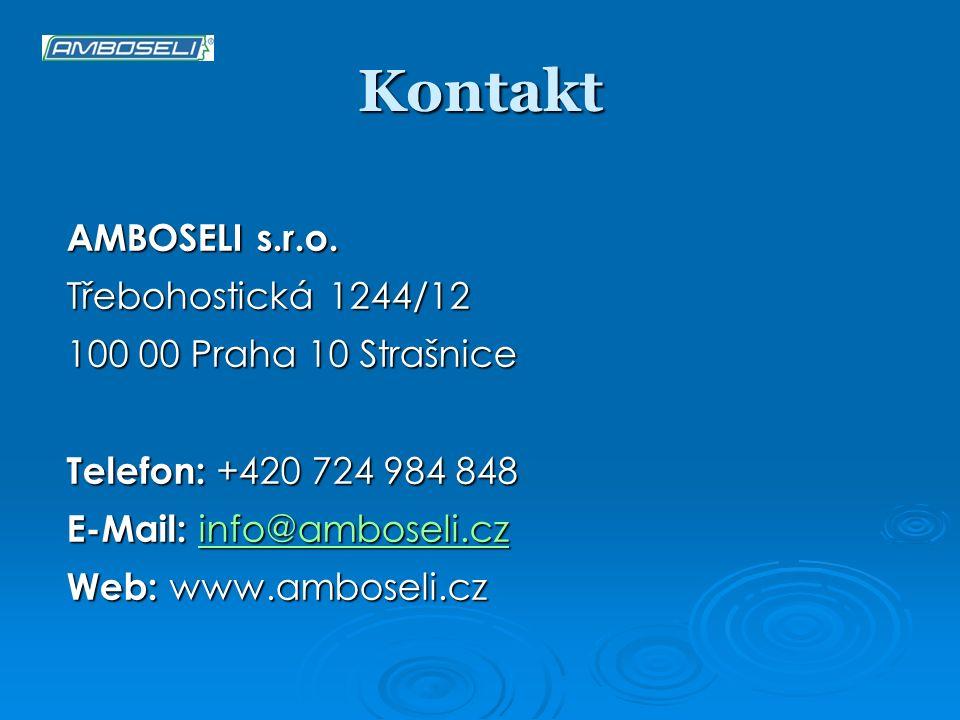 Kontakt AMBOSELI s.r.o. Třebohostická 1244/12