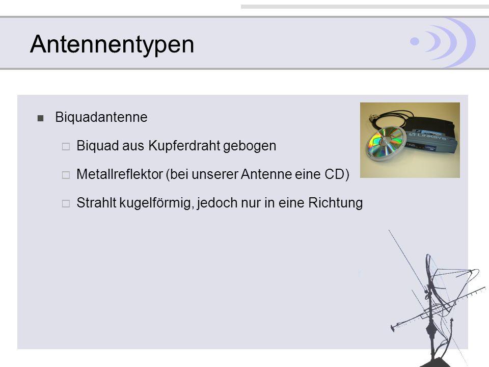 Antennentypen Antennen Biquadantenne Biquad aus Kupferdraht gebogen