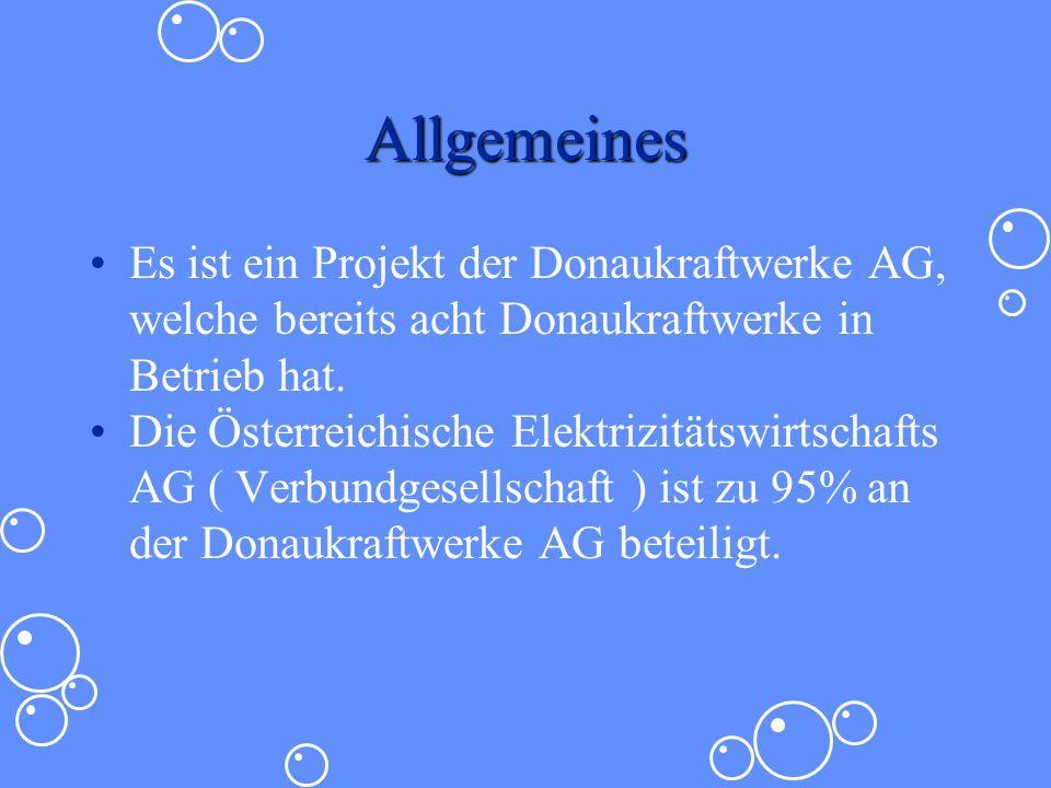 Allgemeines Es ist ein Projekt der Donaukraftwerke AG, welche bereits acht Donaukraftwerke in Betrieb hat.