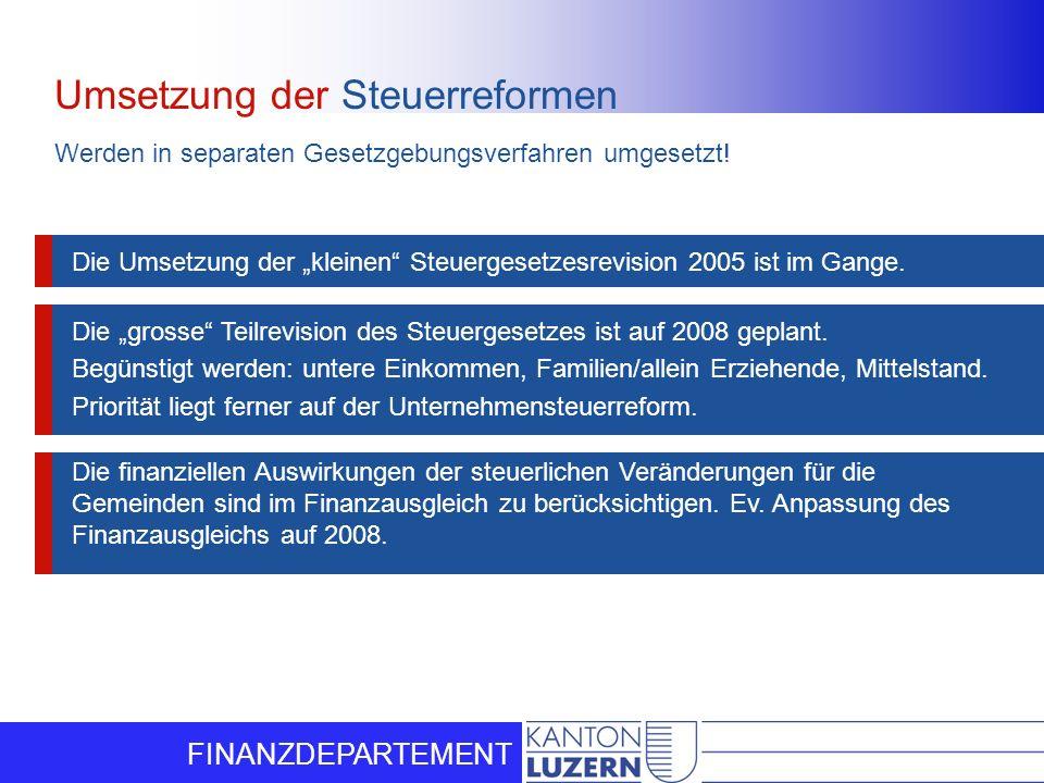 Umsetzung der Steuerreformen