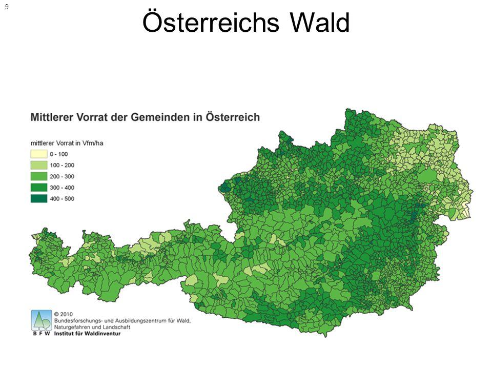 Österreichs Wald Fläche Österreichs: 83.879 km²