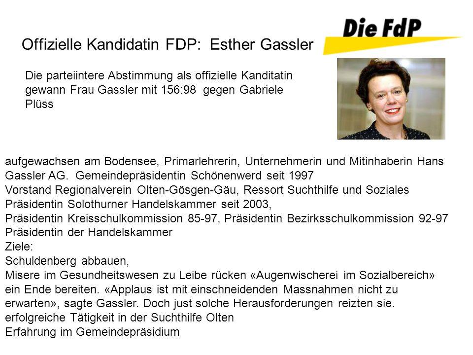 Offizielle Kandidatin FDP: Esther Gassler