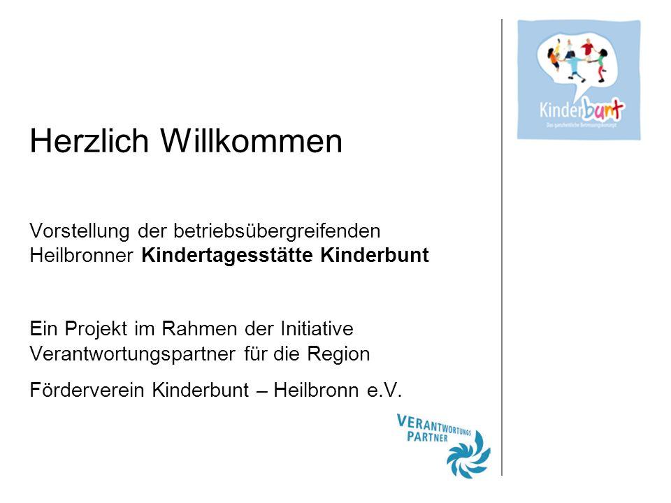 Herzlich Willkommen Vorstellung der betriebsübergreifenden Heilbronner Kindertagesstätte Kinderbunt.