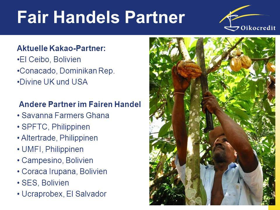 Fair Handels Partner Aktuelle Kakao-Partner: El Ceibo, Bolivien