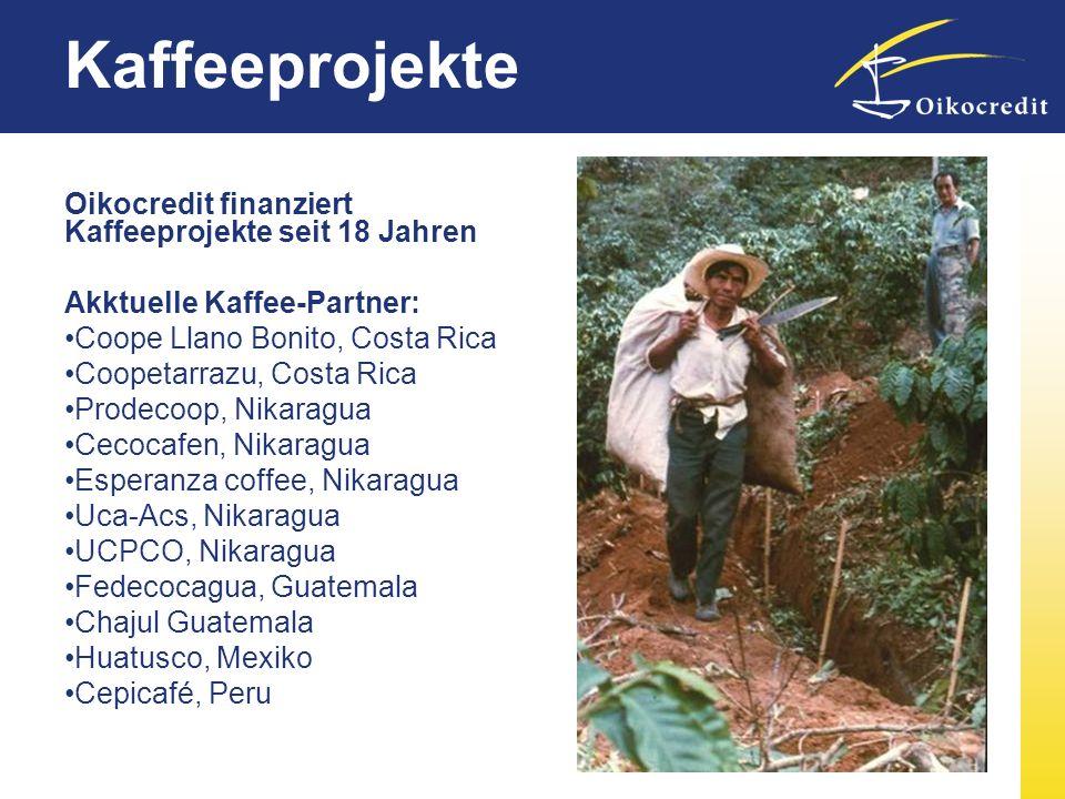 Kaffeeprojekte Oikocredit finanziert Kaffeeprojekte seit 18 Jahren