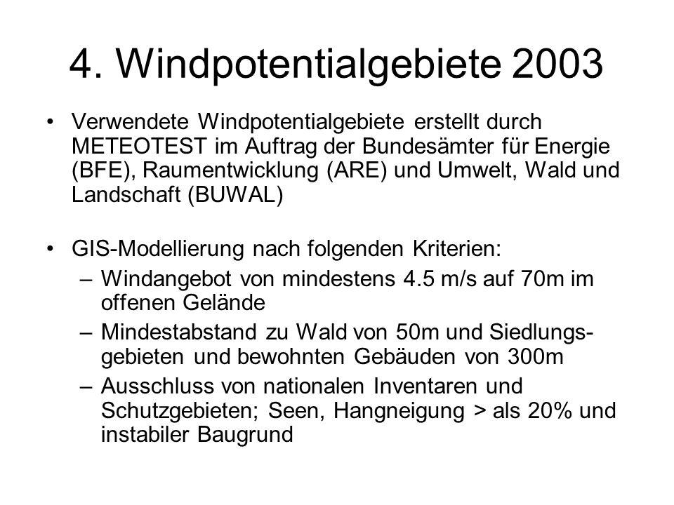 4. Windpotentialgebiete 2003