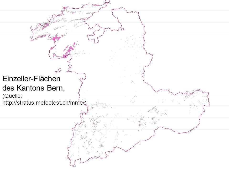 Einzeller-Flächen des Kantons Bern, (Quelle: