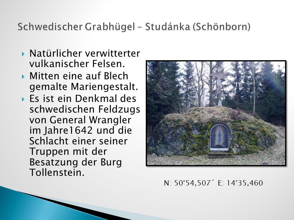 Schwedischer Grabhügel – Studánka (Schönborn)