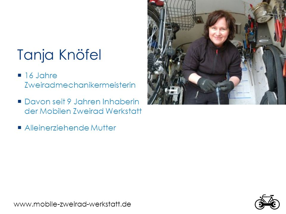 Tanja Knöfel 16 Jahre Zweiradmechanikermeisterin