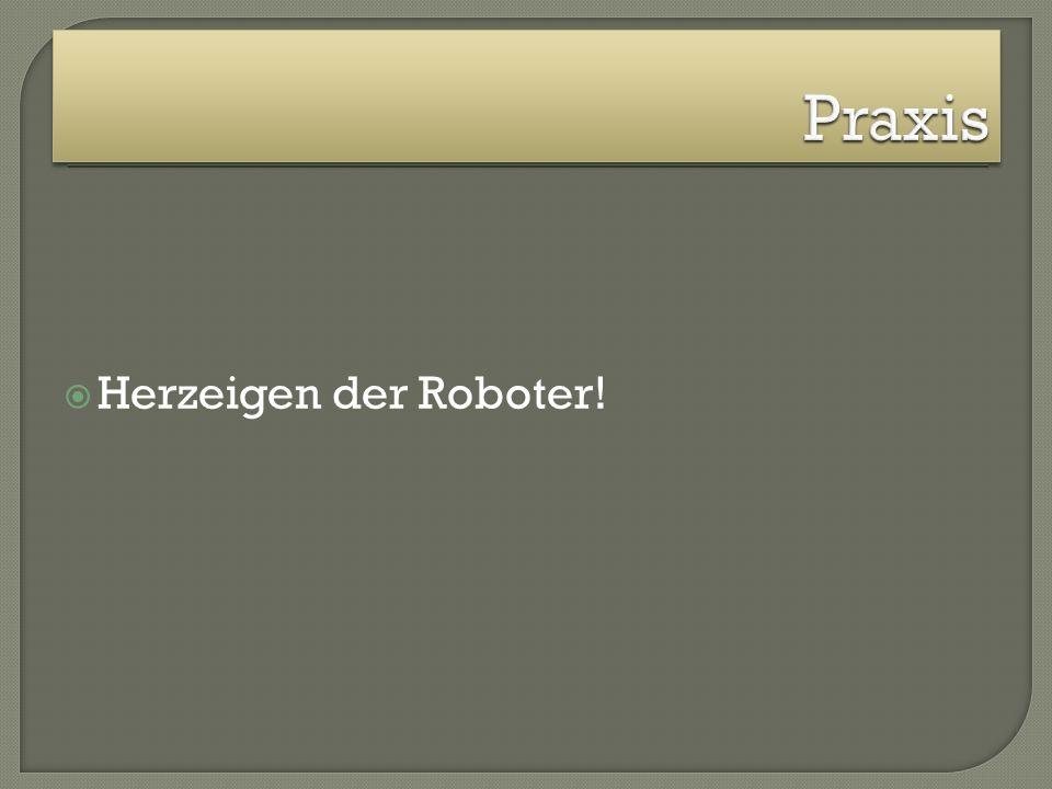 Praxis Herzeigen der Roboter!