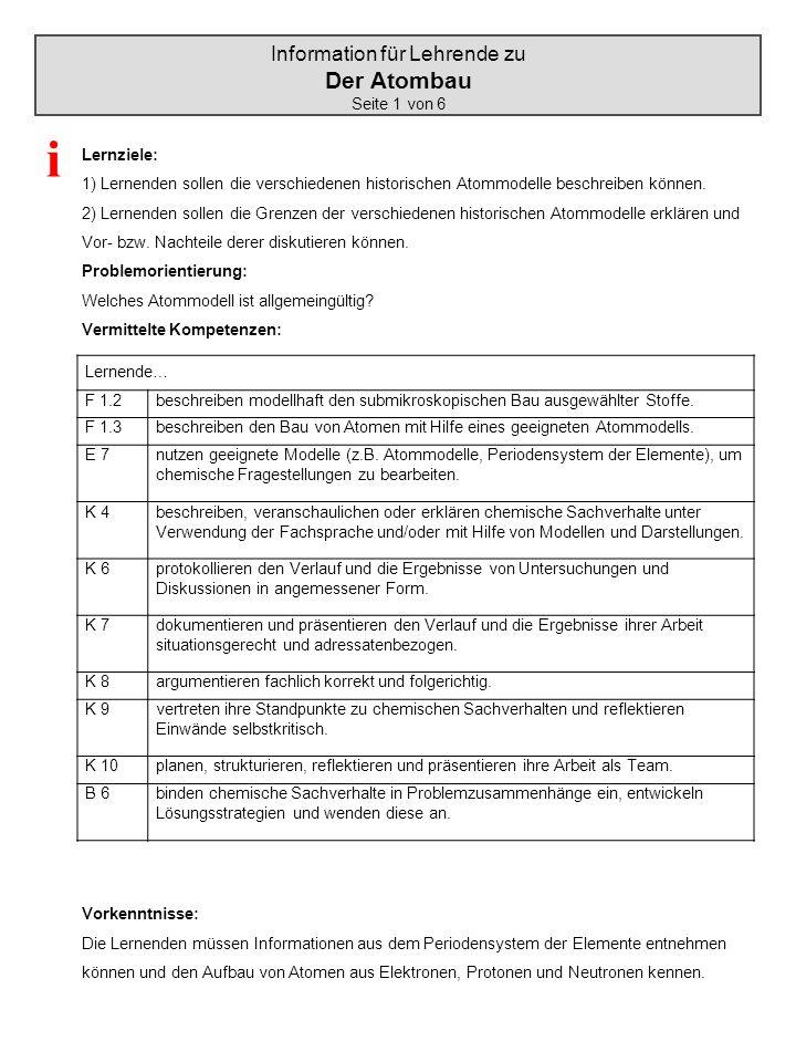 Information für Lehrende zu
