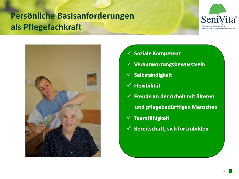 Persönliche Basisanforderungen als Pflegefachkraft