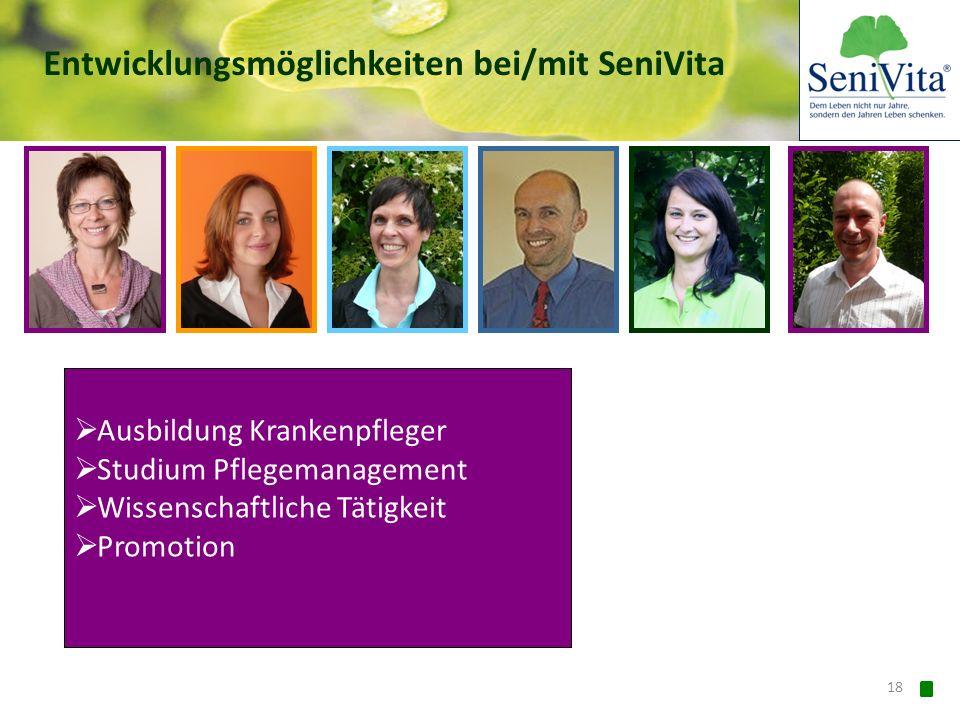 Entwicklungsmöglichkeiten bei/mit SeniVita