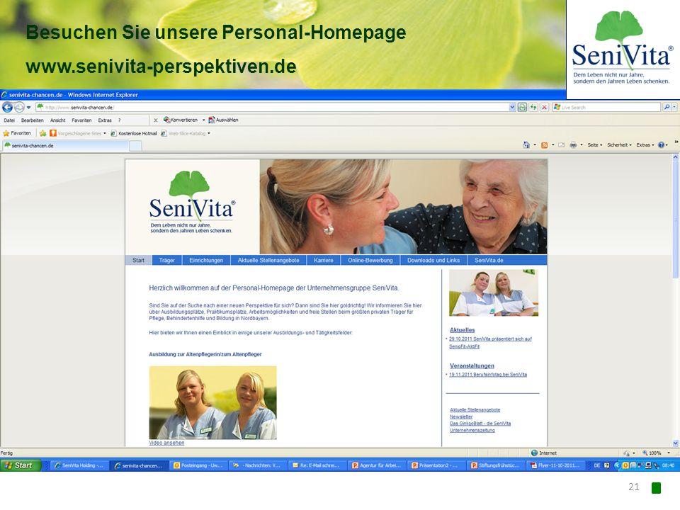Besuchen Sie unsere Personal-Homepage