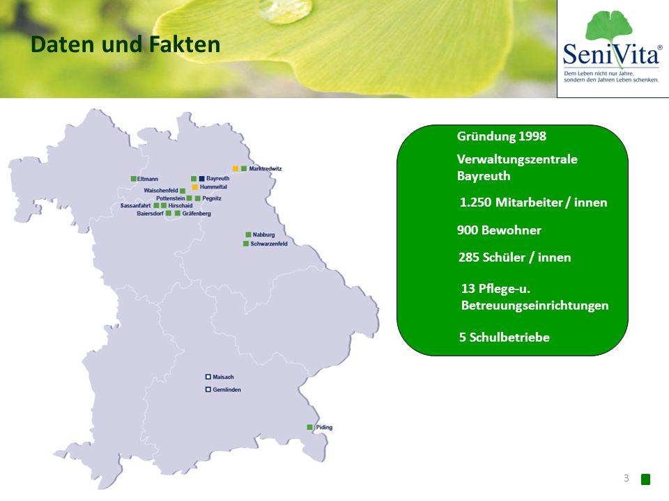 Daten und Fakten Gründung 1998 Verwaltungszentrale Bayreuth