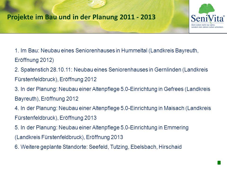 Projekte im Bau und in der Planung 2011 - 2013