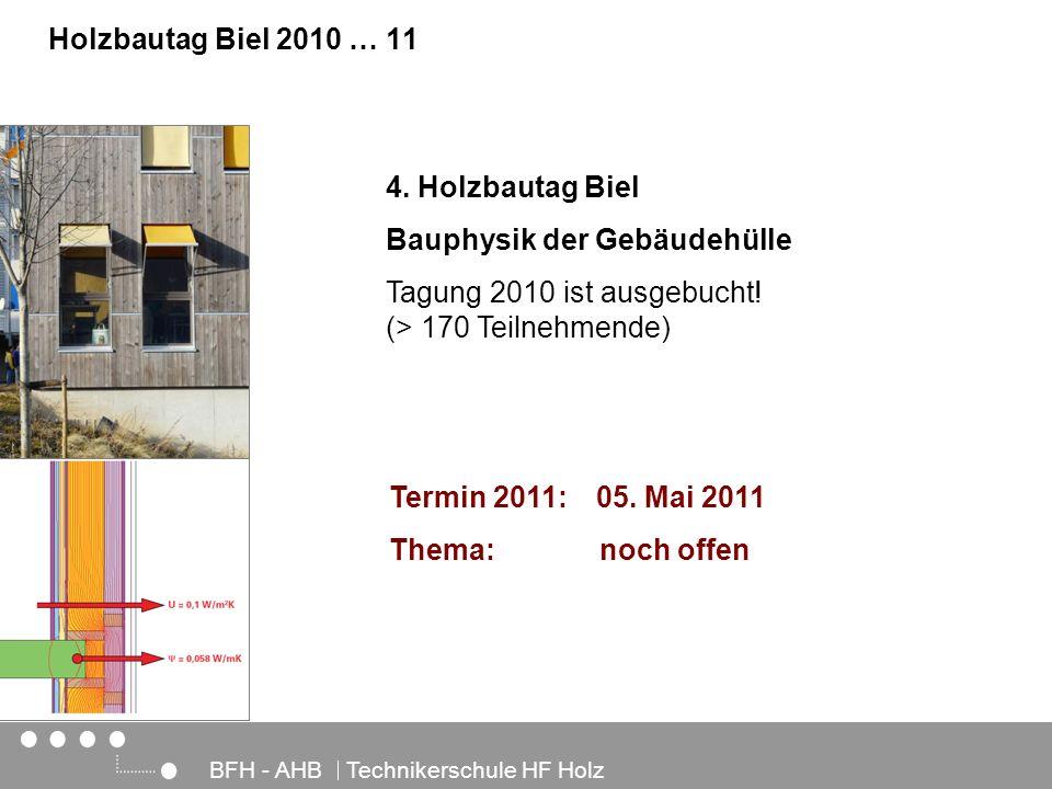 Bauphysik der Gebäudehülle Tagung 2010 ist ausgebucht!