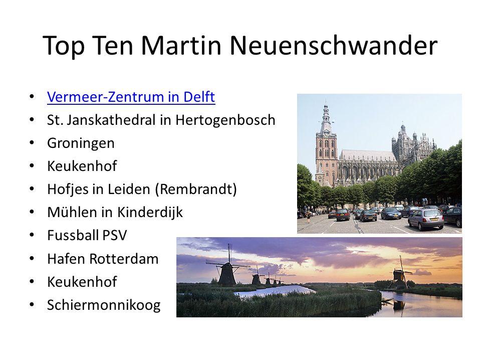 Top Ten Martin Neuenschwander