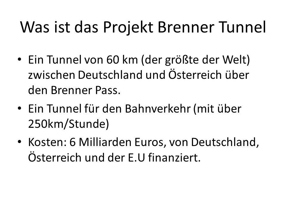 Was ist das Projekt Brenner Tunnel