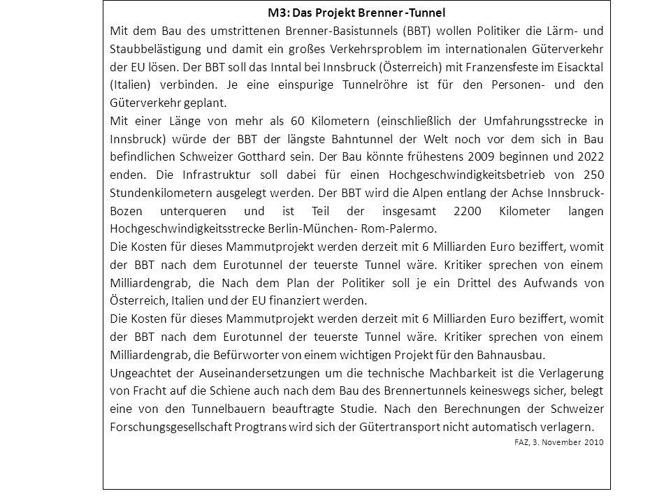 M3: Das Projekt Brenner -Tunnel
