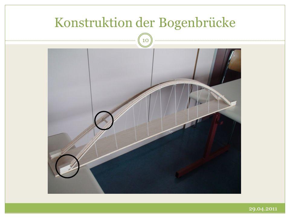 Konstruktion der Bogenbrücke