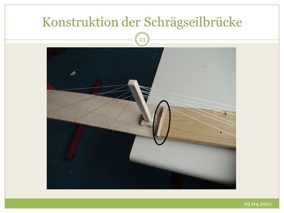 Konstruktion der Schrägseilbrücke