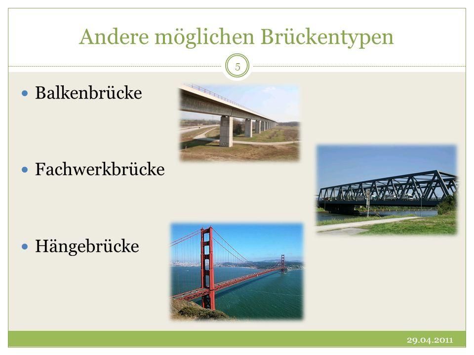 Andere möglichen Brückentypen