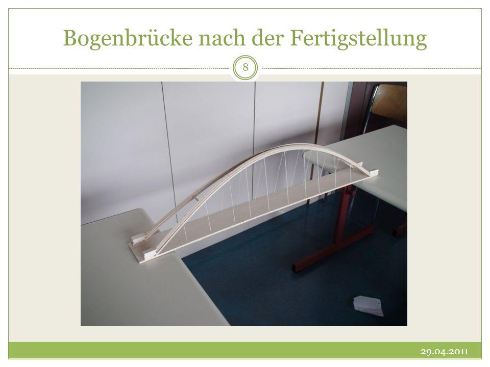 Bogenbrücke nach der Fertigstellung