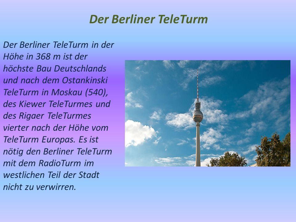 Der Berliner TeleTurm