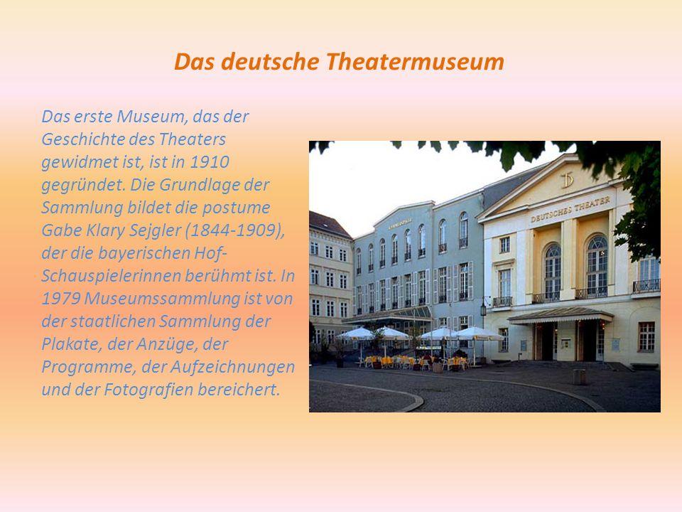 Das deutsche Theatermuseum