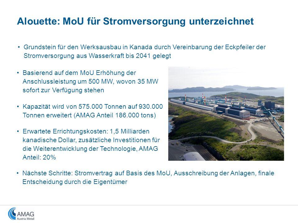 Alouette: MoU für Stromversorgung unterzeichnet